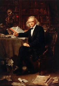 Theodor Mommsen. Painting by Ludwig Knaus, 1881.