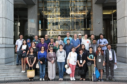 The participants at the Bank of Indonesia headquarters.
