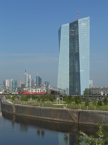 The building of the European Central Bank in Frankfurt's Ostend.