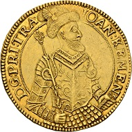579 -  Transylvania. John Kemeny, 1661-1662. 10 ducats 1661, Klausenburg. Only two specimens known on the market. Extremely fine. Estimate: CHF 100,000. Hammer price: CHF 170,000.