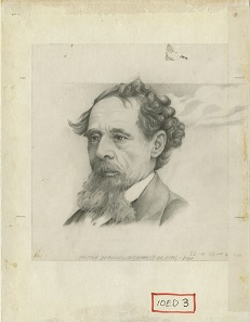 Original hand-drawn artwork for the GBP 10 note which featured Charles Dickens, including a scene from the Pickwick Papers: the cricket match between Dingly Dell and All Muggleton. Drawn by Roger Withington, based on an illustration by R Buss. Photos: Bank of England Museum.