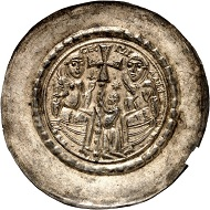 No. 508: Nordhausen. Cäcilia, 1140-1160. Bracteate. From the Hemleben find. Very rare. Extremely fine. Estimate: 7,500,- euros.