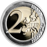 Italy's new 2 euro circulation coin to commemorate 70 years Constitution.