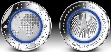 The Coin of the Year 2018 comes from Germany: The 5-euro polymer coin