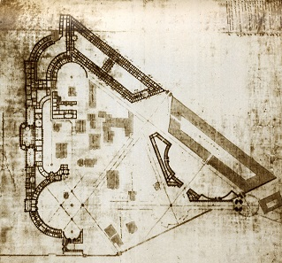 Draft for the rebuilding of the Kremlin by Bazhenov.