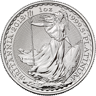 Great Britain / 100 GBP / 999.5 platinum / 31.21g / 32.69mm / Design: Philip Nathan.