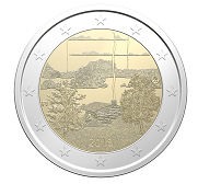 Another two-euro coin celebrates Finnish saunas.