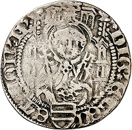 Dietrich II. von Isenburg zu Büdingen, 1st rule 1459-1462. Weißpfennig (groschen) without date (1461/2), Mainz. Very fine. Estimate: 100,- euros. From Künker auction 305 (21 March 2018), No. 3785.