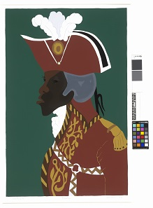 Jacob Lawrence (1917-2000), General Toussaint L'Ouverture from the series The Life of Toussaint L'Ouverture. Screenprint, 1986. © Estate of Jacob Lawrence. ARS, NY and DACS, London 2017.