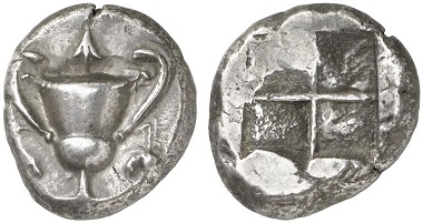 Nomos 1, 2009, 88. Naxos, Kyklades, from the Santorini Hoard of 1821 (IGCH 7). Est. 40,000 / Hammer 38,000 CHF.