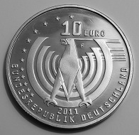 "The 2011 German circulating commemorative coin ""125 Years of the Automobile"" without silver – a real slow-seller. Photo: Stphn / BY-CC 4.0."