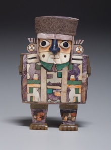 Wari figurine in the shape of a dignitary, Peru, A.D. 600-1000. Kimbell Art Museum, Fort Worth, Texas. Image: Kimbell Art Museum.