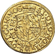 No. 1127. Bavaria. Albert V, 1550-1579. Ducat n. y. Extremely rare. Extremely fine to FDC. Estimate: 30,000 euros.