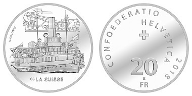 Switzerland / 20 CHF / Silver .835 / 20g / 33mm / Design: Ueli Colombi / Mintage: 5,000 (Proof), 29,000 (standard coinage uncirculated).