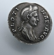 This coin shows Pompeia Plotina, the wife of Trajan. Source: Northeast Normal University.