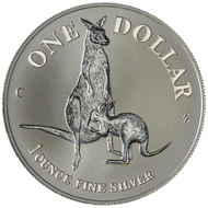 One dollar coin 1996.