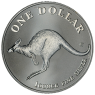 One dollar coin 1998.