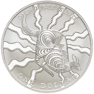 One dollar coin 2002.