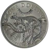 One dollar coin 2003.
