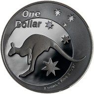 One dollar coin 2005.