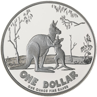 One dollar coin 2007.