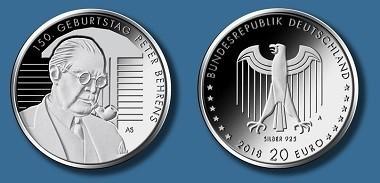 Anprägung 20 Euro Münze Peter Behrens News Münzenwoche