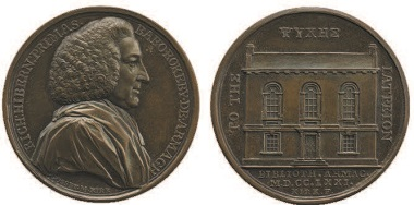 A medal commemorating the opening of the library in 1771. Photo: British Museum