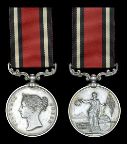 Lot 1091: Indian Army Best Shot Medal, V.R., silver, unnamed, extremely fine and rare. From A Collection of Indian medals. Estimate: 400-500 GBP.