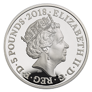 Great Britain / 5 GBP / .925 silver / 28.28 g / 38.61 mm / Design: David Cornell / Mintage: 1,918.