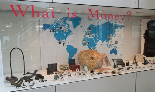The exhibition in Calgary. Photo: What is Money exhibition, University of Calgary