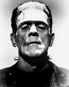 Arguably the most iconic portrayal of Frankenstein: Boris Karloff in the 1931 screen adaptation.