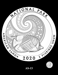 The CCAC and CFA recommendations for the design depicting the National Park of American Samoa.