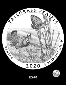 The CCAC and CFA recommendations for the design depicting the Tallgrass Prairie National Preserve.