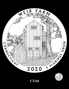 The CFA provisional recommendations for the design depicting the Weir Farm National Historic Site.