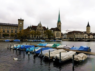 Even on a rainy weekend, Zurich is still extraordinarily beautiful. Photo: LS.