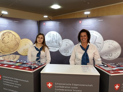 "The Swissmint team is very proud of the success of the ""Swiss Army Knife"" commemorative coin. Photo: LS."