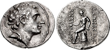 "Antiochos III ""the Great"". Tetradrachm, Antioch on the Orontes mint, 197-192/0. From sale CNG 109 (2018), 259."