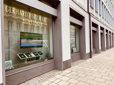 Gerhard Hirsch Nachfolger in Munich: Germany's oldest family-owned coin dealership.
