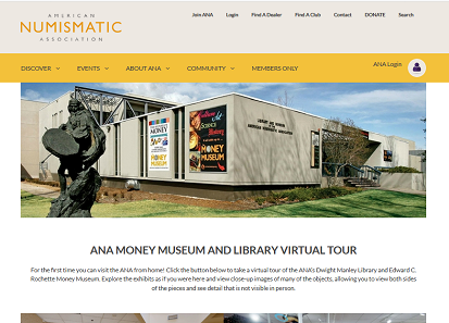 The ANA Virtual Museum is easily accessible from any internet device.