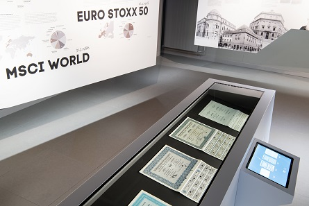 The latest special exhibition of the Swiss Finance Museum presents the history of the SMI. Photo: Schweizer Finanzmuseum.