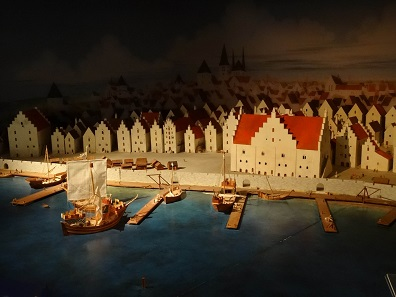 Model of the city of Visby. Photo: KW.