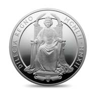 Great Britain / 10 GBP / 5oz .999 silver / 156.295 g / 65 mm / Design: Ian Rank-Broadley / Mintage: 1,952.