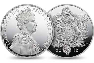 Great Britain / 500 GBP / .999 silver / 1005.00 g / 100.00 mm / Design: Ian Rank-Broadley / Mintage: 1,000.