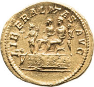 20321: ROMAN EMPIRE. Macrinus (217-218 AD). AV aureus (20mm, 6.81 gm, 6h). Rome, AD 218. Estimate: $40,000. Realized: $203,150.