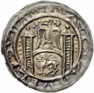 Arnstein (Lower Saxony). Walter II, 1135-1176. Bracteat, Hettstett. Berger 1452. Very rare. Extremely fine. Starting price: 6,000 euros. Hammer price: 9,500 euros.