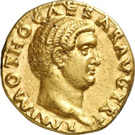 Lot 579A. Roman Imperial Times. OTHO, 69. Aureus. RIC 7. Rare. Good extremely fine. Estimate: 50,000 euros. End result: 80,500 euros.