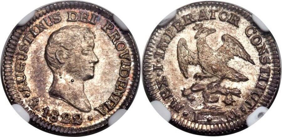 Augustin I. Iturbide. ½ Real 1822.